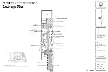 Frederick City Residence:  Landscape Architect in Frederick, MD